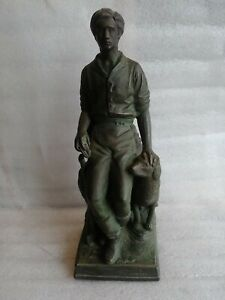 Rare Vintage Abraham Lincoln The Hoosier Youth Bronze Statue by George Yostel