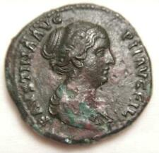 Ancient Roman Empire 145-176 AD Sestertius of Faustina II  Very Fine RICIII-1387