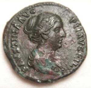 Ancient Roman Empire 145-176 AD Sestertius of Faustina II  Very Fine RICIII-1387