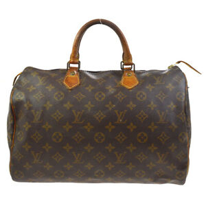 LOUIS VUITTON SPEEDY 35 HAND BAG PURSE MONOGRAM CANVAS M41524 afp 37077