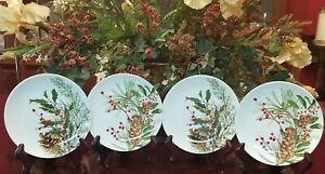 Williams Sonoma Woodland Berry Appetizer Plates Set/4 NIB