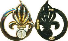 LEGION, 1° Régiment Etranger de Génie, insigne de béret, LR PARIS (4572) (9130)