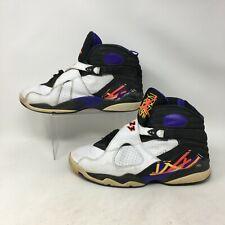 Nike Air Jordan 8 Retro Three Peat High Basketball Shoes Leather White Men 10