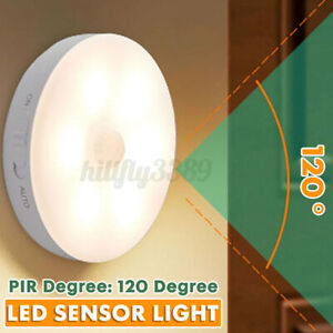 Rechargeable Cordless PIR Motion Sensor LED Night Light Lamp Wardrobe