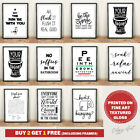 Bathroom Prints Wall Art Poster. Toilet Funny Home Pictures FINE ART QUALITY