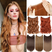 Hidden Halos Invisible Wire Hairpiece Secret Miracle Top Thick Hair Extensions