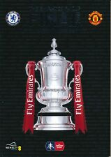 FA CUP FINAL PROGRAMME 2018 Manchester United v Chelsea PLUS exclusive extra #1