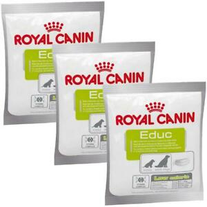 3 x Royal Canin Educ Dog Puppy Training Reward Snack Treat - Low Calorie - 50g