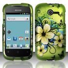For Huawei Ascend Y H866C Rubberized HARD Case Phone Cover Hawaiian Flowers