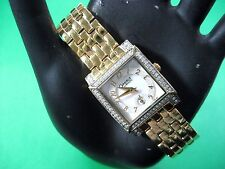 BULOVA CARAVELLE 45L003 LADIES DRESS WATCH GOLD PL MOTHER OF PEARL DIAL ANALOG
