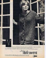 PUBLICITE ADVERTISING 1961 074 Les Laines du CHAT BOTTE pull over