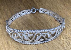 Beautiful Vintage Fine Silver Bracelet Bangle
