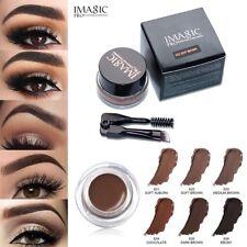 Maquillage Longue durée Eyeliner Gel Imperméable Sourcils Crème Brosse
