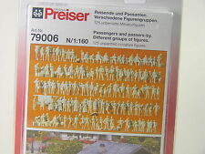 Reisende u. Passanten - Preiser Spur N - 1:160 - 125 unbemalte - 79006 #E