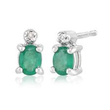 Orecchini di lusso bottoni ovali smeraldo