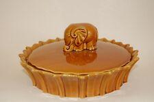 Dose Deckeldose Elefant Keramik braun Sarreguemines France