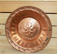 Vintage folk hand made copper bowl