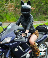 UNBROKEN Angelina Motorcycle Helmet Cat Ear DOT Full Face Racing AMT