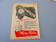 Pubblicità su pagina originale anni 50/60 Advertising vintage WYLER VETTA NIVEA
