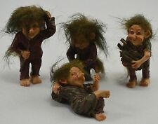 Collectable set of 4 Troll Statues, Ornaments. Gift/Present, Gnomes. NEW!!