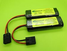 PAIR OF 1600 NIMH BATTERY PACKS FOR 1/16 TRAXXAS E REVO VXL / MADE IN USA