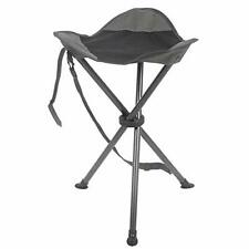 Camping Stool Folding Tripod Chair Tall Slacker Black Mesh Storage Pocket