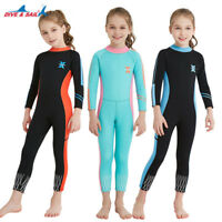 Kids 2.5mm Neoprene Full Body Jumpsuit Wetsuit Thermal Warm Long Sleeve Swimwear