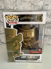 Motorhead Lemmy Kilmister 49 Funko Pop Gold Rainbow Bar Statue EMP Exclusive