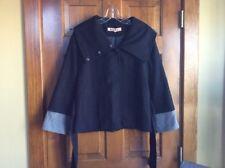Marni Short Black Wool Jacket Coat Size 34 US 2 XS