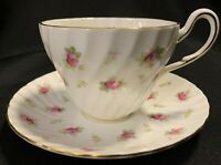 "Vintage E.B. Foley 1850 Bone China England ""Divinity Rose"" Teacup & Saucer"