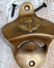 Ship Anchor Bottle Opener solid brass works AGED vintage  finish screws included