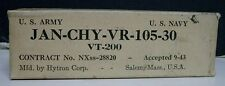 1943 NOS Hytron VT-200 Radio Tube - Voltage Regulator, Single - US Army  - Navy