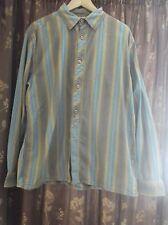 Fat Face men's Brown & Blue Striped Long Sleeve Shirt - M vgc