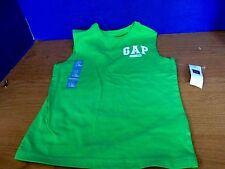 BABY GAP~Green SLEEVELESS SHIRT TANK TOP ~Boys Size 4~NWT