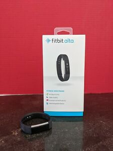 FITBIT ALTA FITNESS EXERCISE WATCH ACTIVITY TRACKER BLACK BAND SMALL FREE SHIP