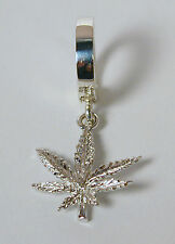 TummyToys® Navel Belly Ring with Sterling Silver Marijuana Leaf Charm Free Ship