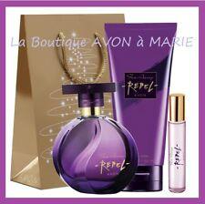 Set Perfume Far Away Rebel + Vapo Bag+Milk Body Avon: Ready to Gift