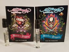 Ed Hardy by Christian Audigier Hearts & Daggers HIS n HERS perfume sample sprays