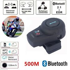 500M Bluetooth Recieves Intercom Headsets Motorcycle Helmet Interphone 2 Riders