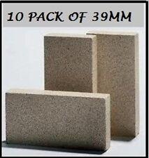 Vermiculite 10 pack fire insulator heat bricks pizza oven / fireplace 230x110x39