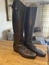 Busato Italian leather Long Riding Boots