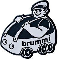 Auto 3D Relief Schild brummi Emblem Aufkleber 7 cm silbergrau HR Art. 4852