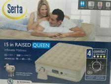Serta 15 in Raised Queen Inflatable Mattress 4 Comfort Air Sleep System