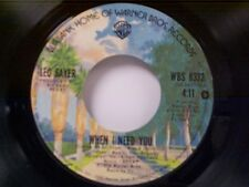 """LEO SAYER """"WHEN I NEED YOU / I THINK WE FELL IN LOVE TOO FAST"""" 45 MINT"""