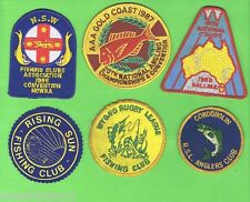#D18. SIX FISHING RELATED CLOTH PATCHES