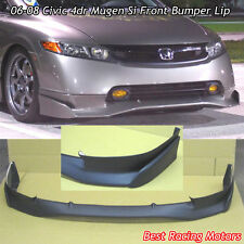 Mu-gen Si Style Front Bumper Lip (Urethane) Fits 06-08 Honda Civic 4dr