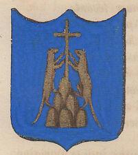 1865 Stemma di Montopoli in Val d'Arno (araldica civica), Pisa, litografia