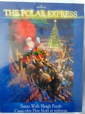 New Hallmark The Polar Express Santa With Sleigh Puzzle