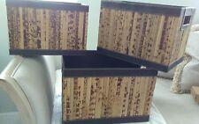 Storage Nesting Retangular Bamboo Racks/Organizer. Set of three. NEW