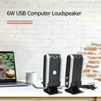 6W Mini Portable USB Speakers for Notebook Laptop Desktop PC Music Player